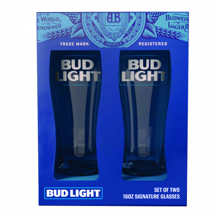 Bud Light Signature Glassware 2-Piece Set
