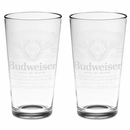 Budweiser Classic Logo 2-Pack Pint Glass Set