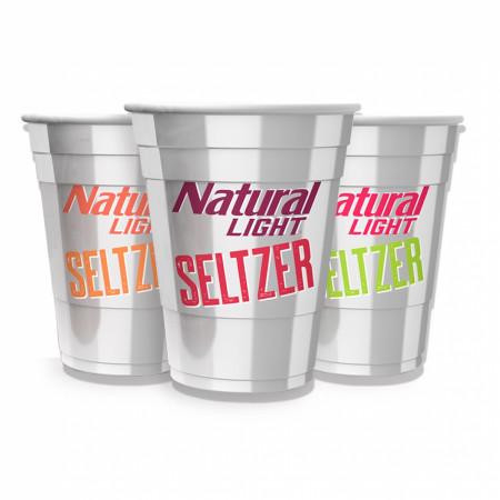 Natural Light Seltzer Reusable Plastic Cups 3-Pack