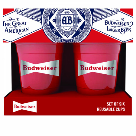 Budweiser 6-Pack Reusable Plastic Cups