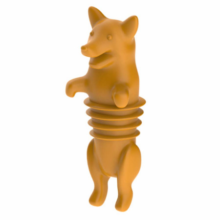 Corki Corgi Dog Wine Bottle Stopper