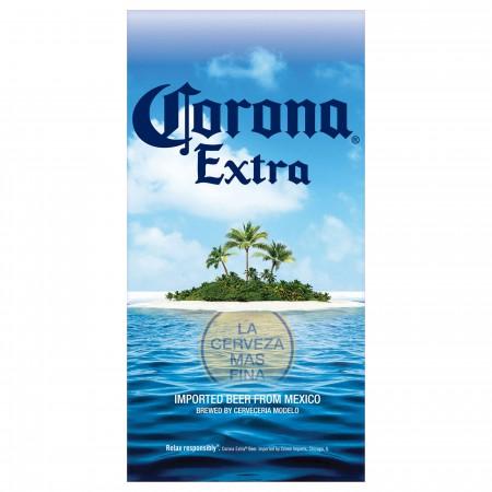Corona Extra Deserted Island Beach Towel