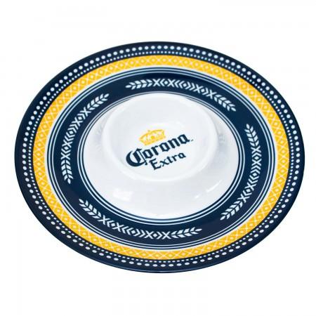 Corona Extra Chip Dip Plate