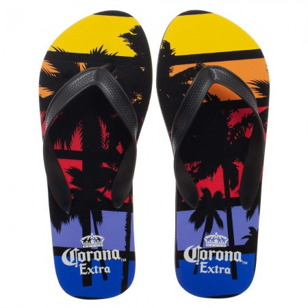 Corona Extra Beer  Palm Trees Sunset Unisex Sandals