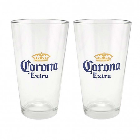 Corona Extra Beer Logo 2 Pack Pint Glasses