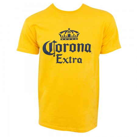 Corona Extra Crown Logo Yellow Men's T-Shirt