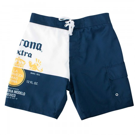 Corona Extra Bottle Label Men's Board Shorts