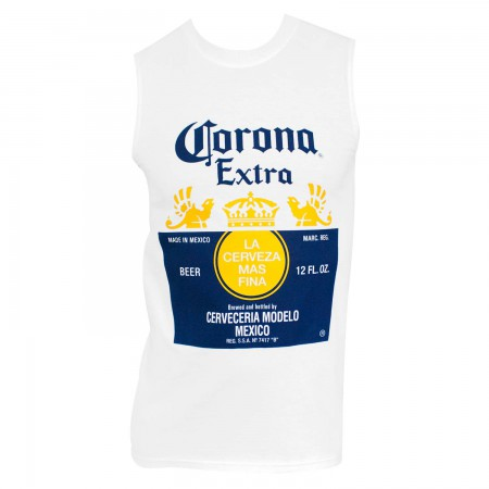 Corona Extra Men's White Muscle Tank Top