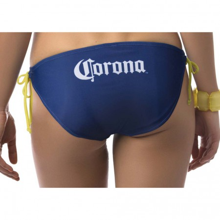 Corona Extra Label Two Piece Women's Navy Bikini