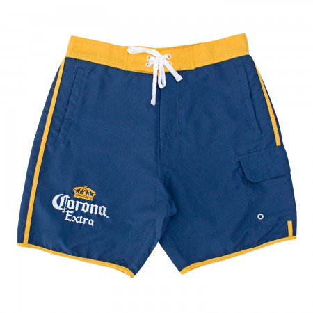 Corona Extra Gold Striped Board Shorts