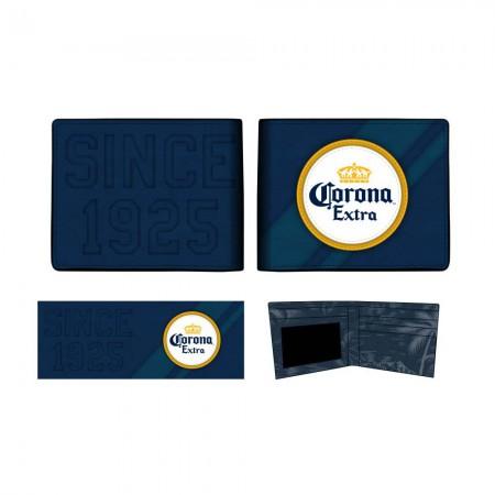 Corona Extra Beer Logo Bifold Navy Blue Wallet