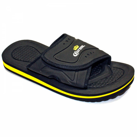 Corona Extra Slip On Men's Black Sandals