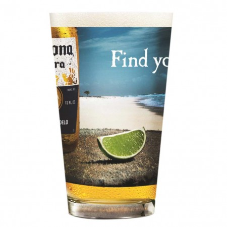 Corona Extra Find Your Beach Pint Glass