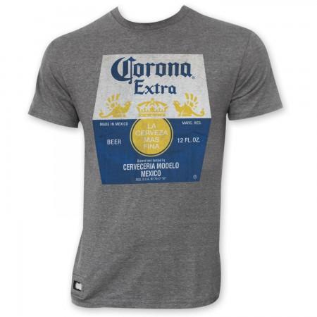 Corona Extra Grey Bottle Label Pop Top Bottle Opener T-Shirt