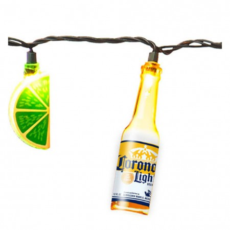 Corona Light Lime Beer Bottle String Lights