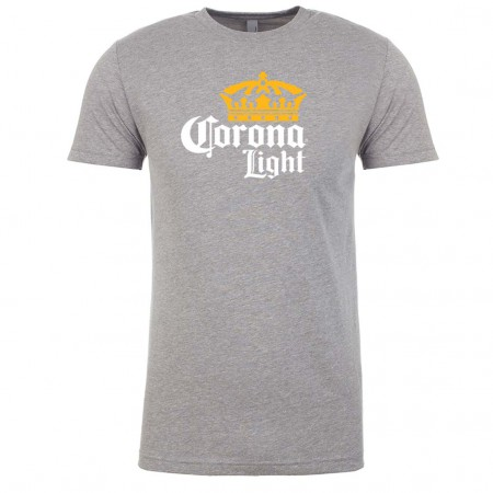 Corona Light Logo Men's Grey T-Shirt