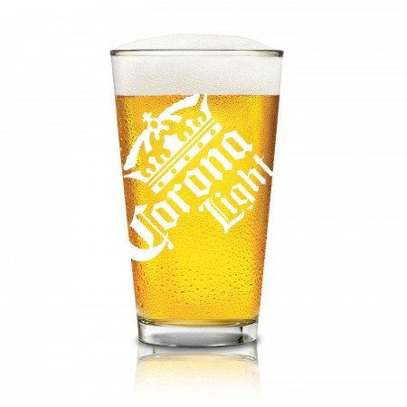 Corona Light Cerveza Pint Glass