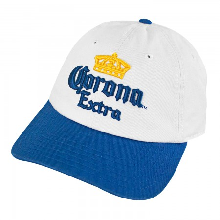 Corona Extra Classic White Blue Men's Baseball Hat