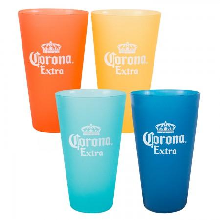 Corona Extra Multi Colored Plastic Cup Set