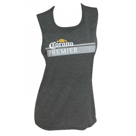 Corona Premier Stripe Logo Women's Gray Tank Top