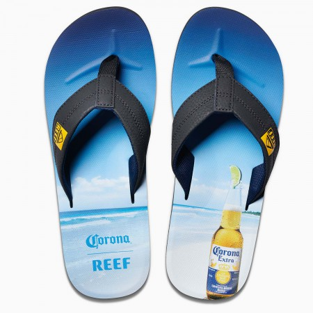 Corona Extra Bottle Opener REEF Brand Men's Flip Flops Sandals