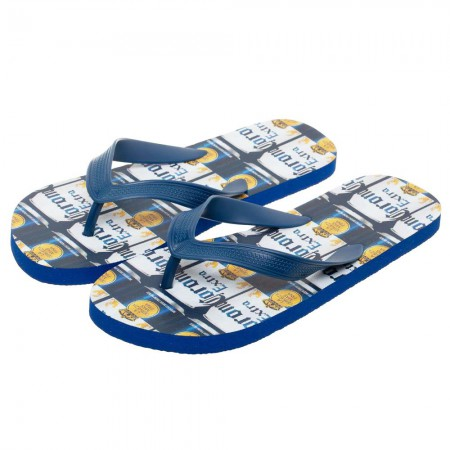 Corona Extra Repeating Can Labels Unisex Sandals