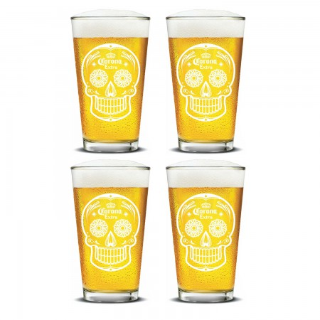 Corona Extra Day Of The Dead Pint Glass Set