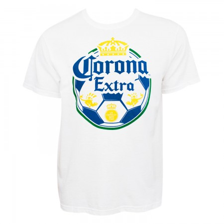 Corona Extra Beer Soccer Ball Men's White T-Shirt