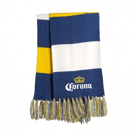 Corona Logo Striped Scarf