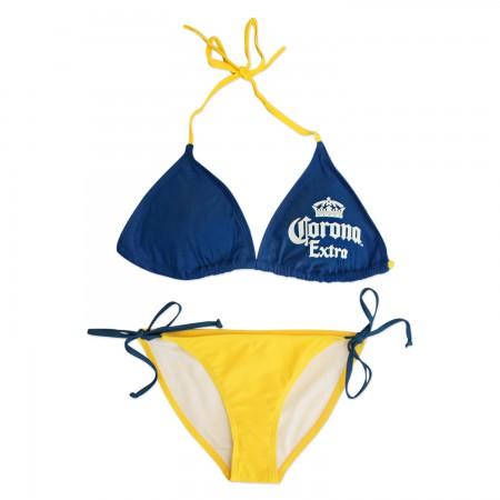 Corona Extra Women's Triangle String Bottom Bikini