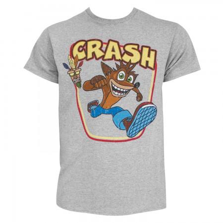 Crash Bandicoot Men's Grey Aku-Aku T-Shirt