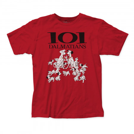101 Dalmatians Men's Red T-Shirt