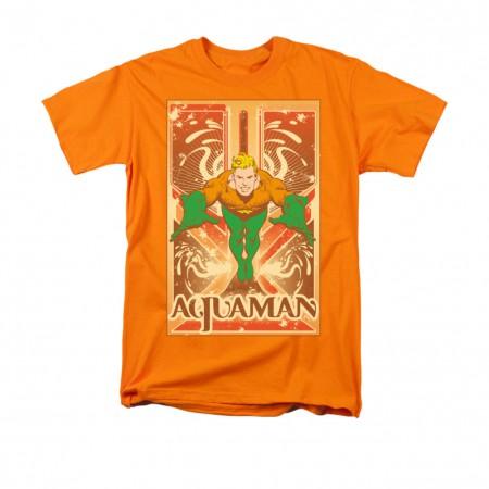Aquaman Men's Orange T-Shirt