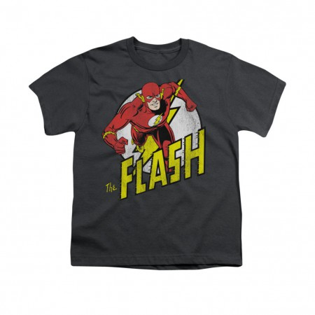 The Flash Run Gray Youth Unisex T-Shirt