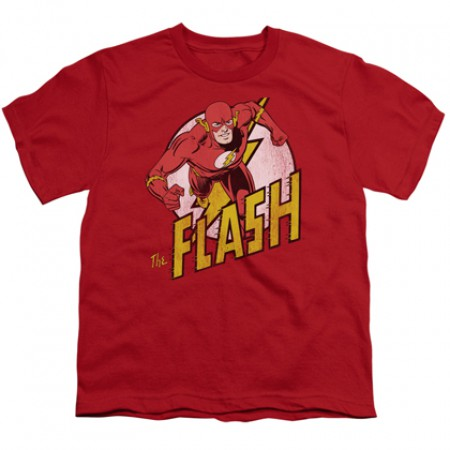 The Flash Sprinting Red Youth Tshirt