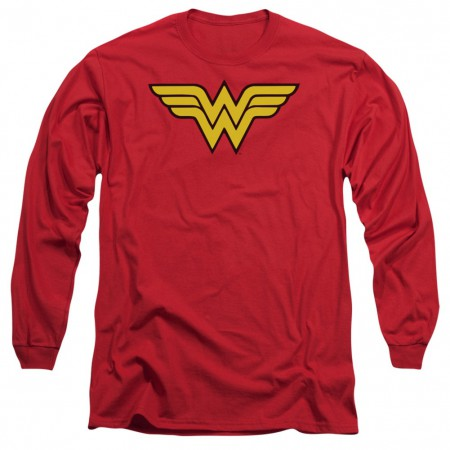 Wonder Woman Logo Long Sleeve Tshirt