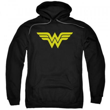 Wonder Woman Classic Logo Men's Black Hoodie