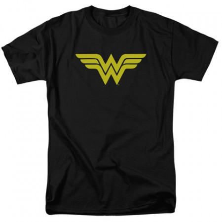 Wonder Woman Classic Logo Men's Black Tshirt