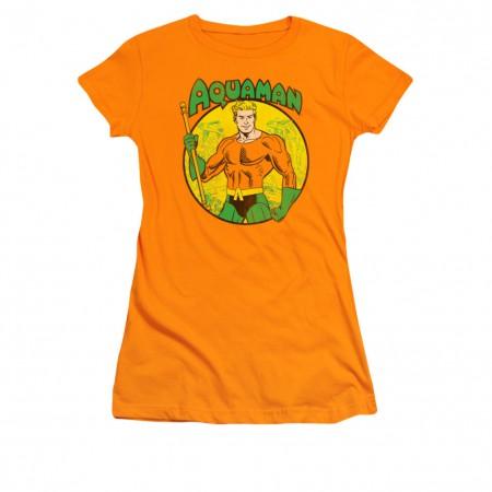 Aquaman Classic Orange Juniors T-Shirt