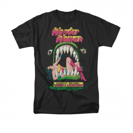 Wonder Woman Jaws Black T-Shirt