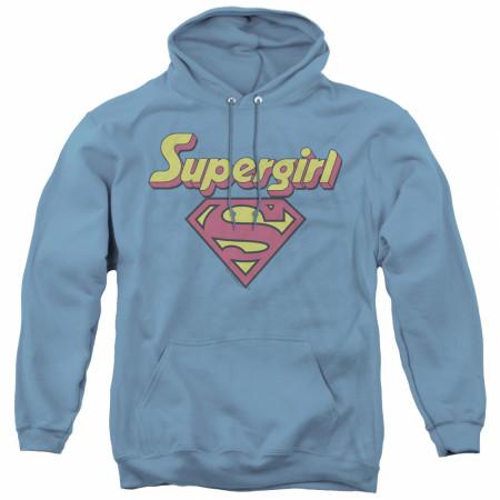 Supergirl Retro Logo Women's Blue Hoodie