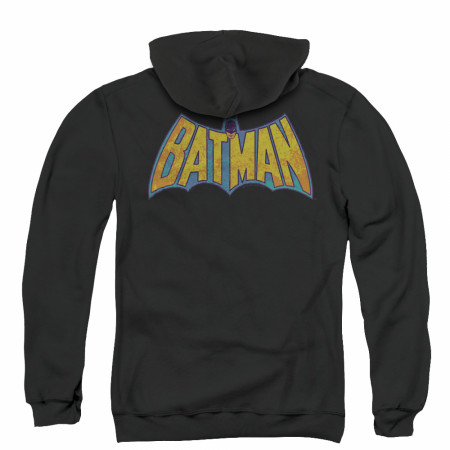 Batman Vintage Logo Men's Black Zip-Up Hoodie