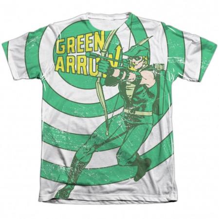 Green Arrow Bullseye Sublimation T-Shirt