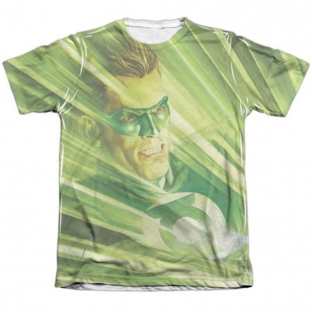 Green Lantern Rays Of Light Sublimation T-Shirt