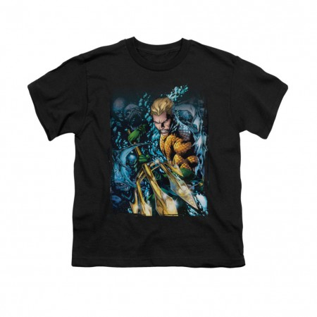 Aquaman #1 Black Youth Unisex T-Shirt