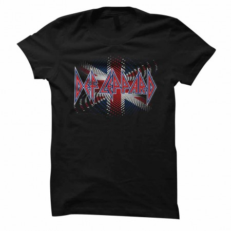Def Leppard British Womens Black T-Shirt