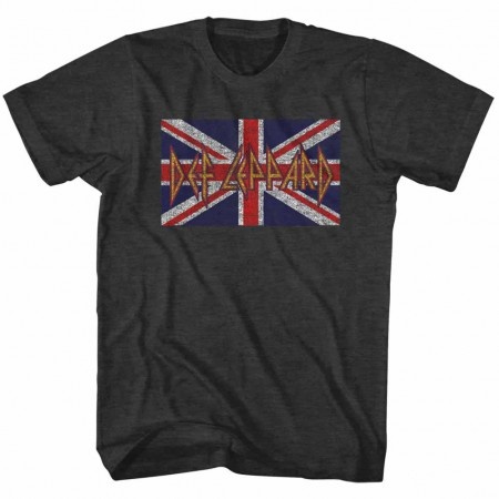 Def Leppard Def Leppard Flag Mens Black T-Shirt