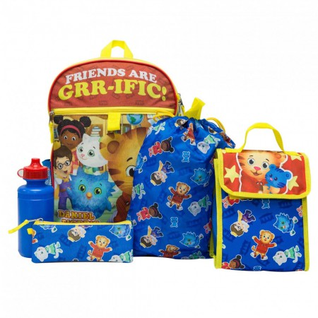 Daniel Tiger Backpack 5 Piece Set