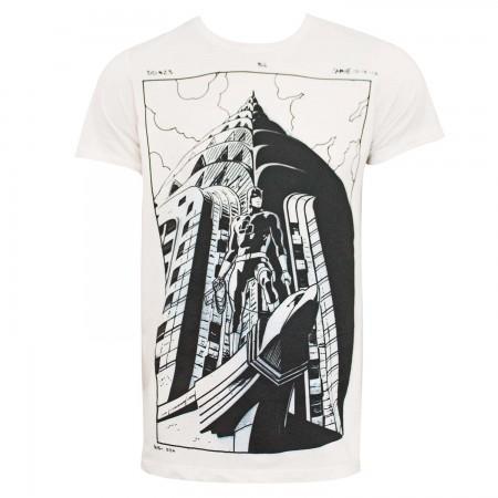 Daredevil Illustrated Comic Art Men's Off-White T-Shirt