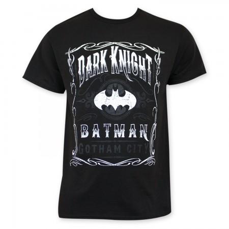 Batman Men's Black Gotham City Dark Knight T-Shirt